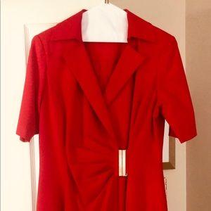 Ellen Tracy red dress